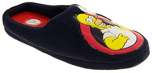 Mule-slippers Pour Femme, Motif: Homer Simpson Sur Le Woo-hoo Duff Novelty Rembourrée Marine