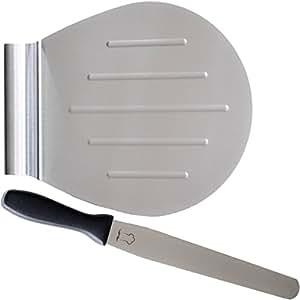 Kuchenheber Set inkl. Streichpalette zum sicheren Anheben von Tortenböden – Kuchenretter Edelstahl – Tortenheber mit Griff