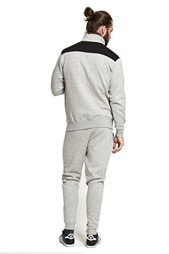 AARHON -  Tuta da ginnastica  - Maniche lunghe  - Uomo TS2270/Grey