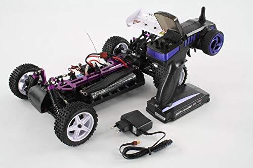 RC Auto kaufen Buggy Bild 4: HSP Buggy XSTR Rot 1:10 4WD RTR 94107/10704 | Fahrfertiges 1:10 Offroad RC-Car | 2.4 Ghz Sender | Ladegerät mit 0,8A Ladestrom | Fahrakku | Fahrtregler 45A | Allradantrieb | Länge ca. 370mm | Breite ca. 245mm | Höhe ca. 130mm | Radstand ca. 275mm*