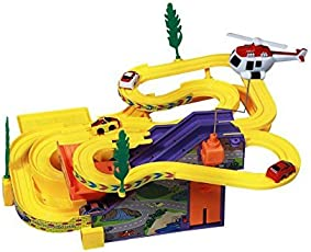 MAGNIFICO® Track Racer Toy Game Car Racing Ramp Set Battery Operated Musical Kids Games