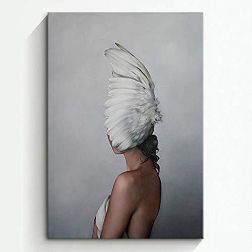 RTCKF Nordischen Stil Wohnzimmer Dekoration malerei mädchen körperkunst malerei leinwand malerei ohne Rahmen F3 50 cm * 70 cm (kein Rahmen) -