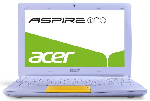 Acer Aspire One Happy 2 25,7 cm (10,1 Zoll) Netbook (Intel Atom N570, 1,6GHz, 1GB RAM, 320GB HDD, Intel  3150, Win 7 Starter) gelb -