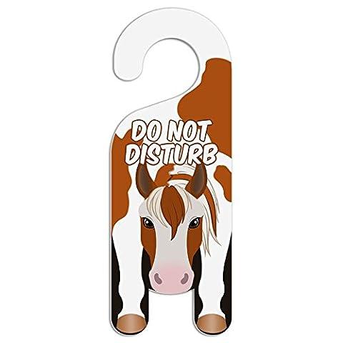Pferd Pinto Paint Do Not Disturb Kunststoff Türknauf Hanger Schild Do Not Disturb (Pferd Türknauf)