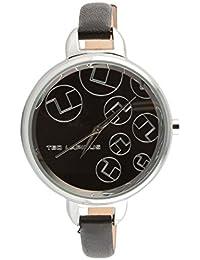 Ted Lapidus - A0643RNNN - Montre Femme - Quartz Analogique - Cadran Noir - Bracelet Cuir Noir