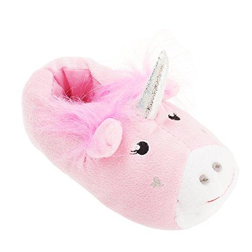 Slumberzzz - Pantuflas/Zapatillas Infantiles de Estar por casa con Forma de Unicornio (32/33 EUR) (Rosa)