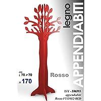 Dettagli su Albero Rosso Appendiabiti Rami Foglie Attaccapanni In Legno  70X70X170 Cm -C25 c2aafd7de33