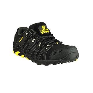 Amblers Unisex Steel FS23 Soft Shell Trainer / Mens Womens Shoes (15 UK) (Black)