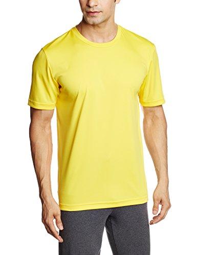 Puma Men's Polyester Round Neck T-Shirt (4055263934278_51226716_Medium_Dandelion)