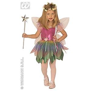 WIDMANN 4394A - Disfraz de Hada Arco Iris para niños, tamaños 110/116