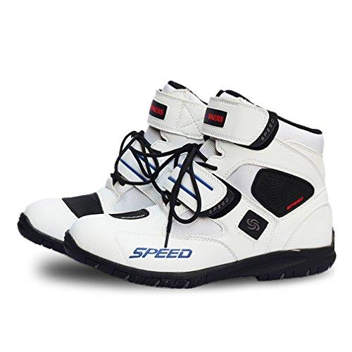 LKN Zapatos de moto de motocross Botas de protección Equipo para la conducción para Hombre 41 EU Blanco