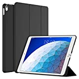JETech Custodia Compatibile iPad Air 3 (3a Generazione 10,5' 2019 Modello), Cover con Auto Svegliati/Sonno, Nero