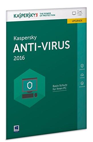 Kaspersky Anti-Virus 2016 Upgrade - 1 PC / 1 Jahr (Lizenzkarte) (Frustfreie Verpackung)