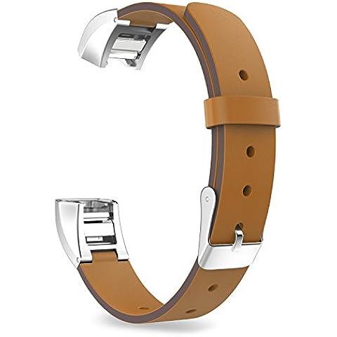 MoKo Fitbit Alta Accessorio Correa, Premium Suave Cuero Auténtico Reemplazo WatchBand para Fitbit Alta Smart Fitness Tracker, Apta 5.31
