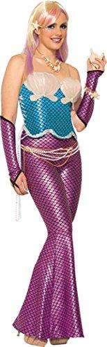 utfit Junggesellinnenabschied Ariel Meerjungfrau Korsett Meerjungfrau-Linie Kostüm blau ()