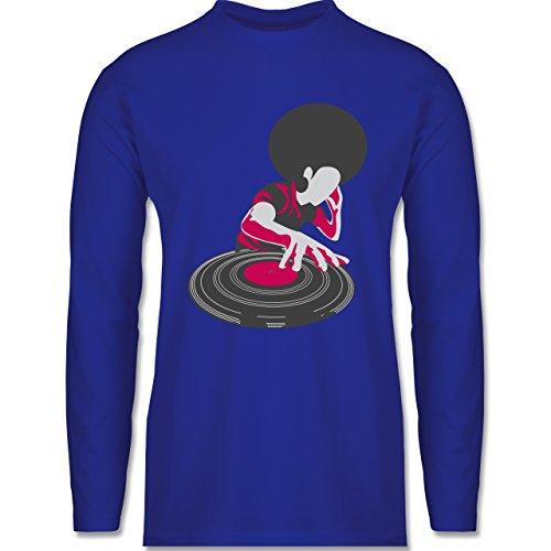 DJ - Discjockey - Discjockey - Longsleeve / langärmeliges T-Shirt für Herren Royalblau