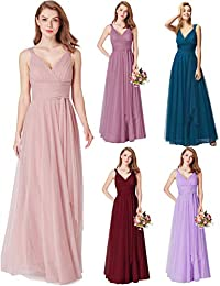 5f4a62c4afb Ever Pretty Women s Floor Length A Line Empire Feminine V Neck Sleeveless  Bridesmaid Dresses 07303