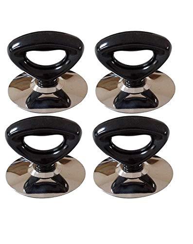 Horizon Cookware, pomelli universali di ricambio per coperchi di pentole, neri, triangolari. Confezione da 4