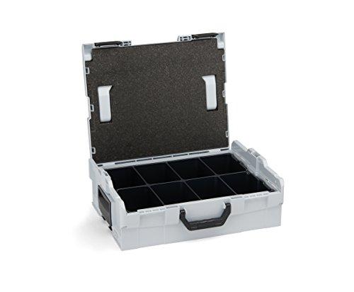 Bosch Sortimo L-Boxx 136 grau mit Einsatz 8-fach • LBoxx 136 Koffersystem für optimale Lagerung...