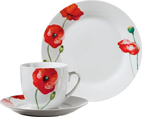Gepolana Kaffeeservice 18-tlg. Porzellan rot