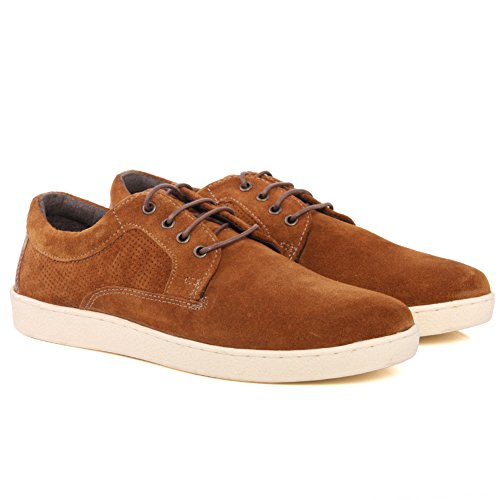 Unze Mens 'Falcon' Smart Confortable Casual Trainers Kicks Sneakers Chaussures Taille 7-12 Bronzage