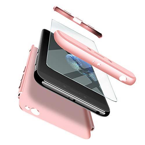 ivencase Funda Xiaomi Redmi Go + Cristal Templado, para Xiaomi Redmi Go Funda 3 in 1 Rígida PC Protective Anti-rasguños Case Cover Caso