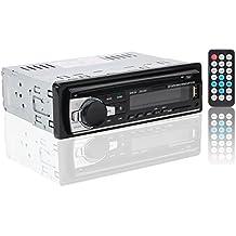 Auto Radio Estéreo Bluetooth de Coche, Rixow Reproductor Audio MP3 en el Tablero Ajustable para Tarjeta SD, USB, y Teléfono Móvil, Modelo JSD-520 con Pantalla LCD.