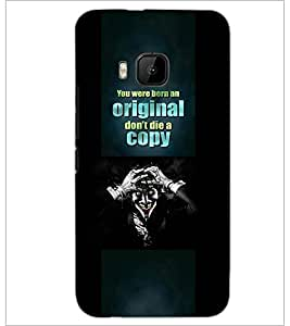 PrintDhaba Quote D-3787 Back Case Cover for HTC ONE M9S (Multi-Coloured)