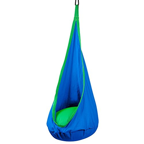Hamaca hamaca para niños hinchable hamaca/Swing/Seat Gamming silla hamaca colgante de, azul, talla única