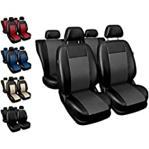 Universal Schonbezüge Schwarz für Mercedes Viano Vordersitze Auto Sitzauflage