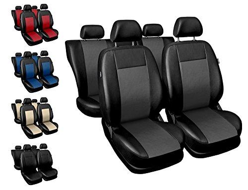 Sitzbezüge Auto universal Set Autositzbezüge Schonbezüge schwarz-grau Vordersitze und Rücksitze mit Airbag System - Comfort