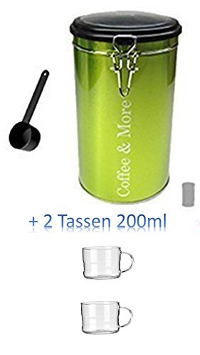 Runde Kaffeedose aus Metall, im schlichten Design, 10 x 17 cm Kaffee Aufbewahren Kaffeepad Dose...