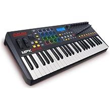 AKAI Professional MPK249 - Teclado controlador MIDI USB de 49 teclas semi-contrapesadas, pads MPC y paquete de software