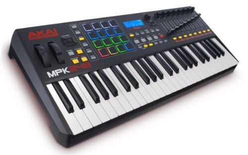 AKAI Professional MPK249 49 Tasten semi gewichtetes USB MIDI Keyboard inkl. wichtiger Kontrollen der MPC Workstations, VIP 3.0 und Software Paket