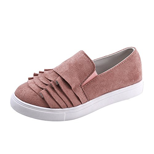 Schuhe Vintage Frauen Outdoor Schuhe Spitze Runde Zehe Flache Ferse Flock Mädchen Freizeitschuhe SanKidv