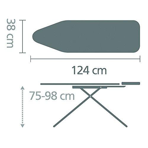 Brabantia Bügelbrett mit Ablage für Dampfbügelstationen, Größe B, Normal Titan Oval, Limited Edition - 2