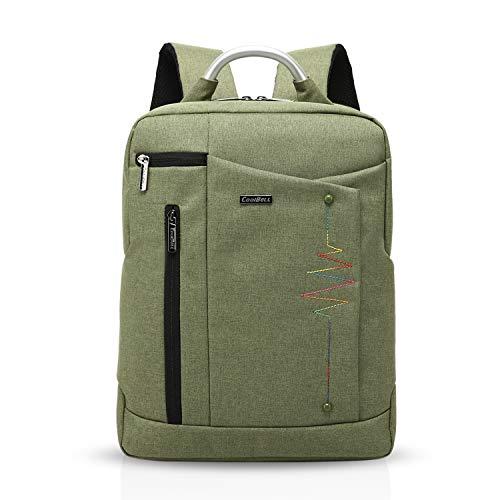 FANDARE Mode 15.6 Pollici Portabile Laptop PC Notebook Computer Macbook Zaino Schoolbag Viaggi Esterno Uomo Donne Scuola Borsa Daypack Multifunzione Alta Capacità Impermeabile Poliestere Verde