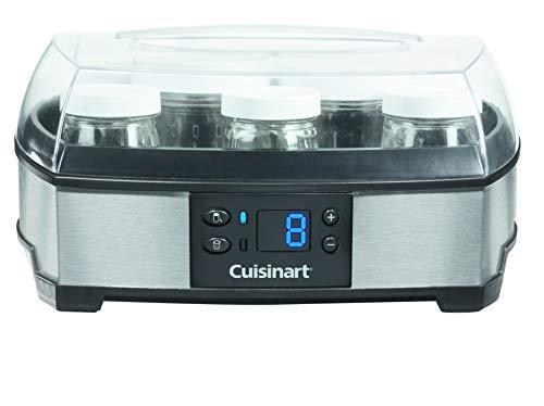 Cuisinart YM400E Joghurt- und Frischkäsebereiter (40 Watt) silber - Glas Joghurt-gläser