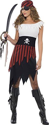 Imagen de smiffy's  disfraz de moza pirata para mujer, talla s 30716s  alternativa