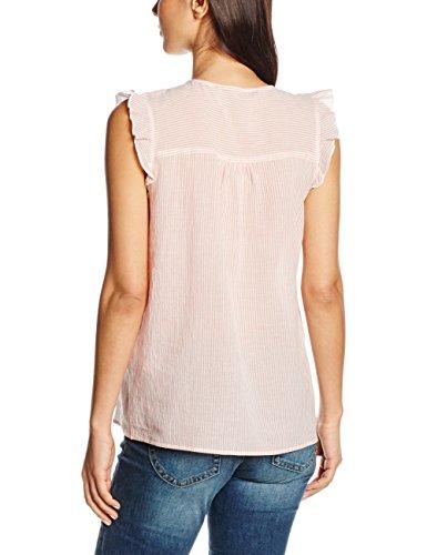 TOM TAILOR Denim Damen Bluse Sleeveless Yarn Dyed Blouse Rosa (soft peach 5578)
