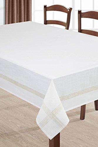 Blanco Mantel Mesa paño Ornamente Fácil, forma elegante Práctico Exklusiv algodón Patrón...