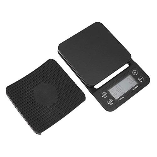 Demiawaking Bilancia Digitale 3000g / 0.1g Bilancia Tascabile Elettronica Mini Bilancia LCD di Alta Precisione per Caffè, Gioielleria,Cibo da Cucina con Timer (Borgogna)