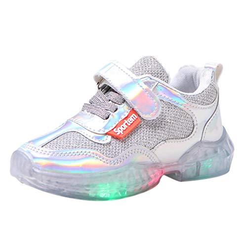 Unisex Bambino LED Scarpe Outdoor Sport Running Sneaker da Corsa Luminose Traspiranti a LED in Mesh Traspiranti