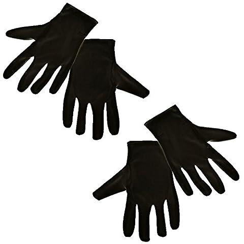 2 Paar Schwarze Handschuhe für Herren Herrenhandschuhe für Abendgarderobe Feste Kostüme