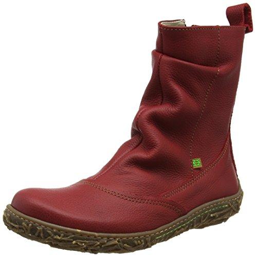 El Naturalista N722 Soft Grain Nido, Stivali a Gamba Larga Donna, Rosso (Tibet N81), 37 EU