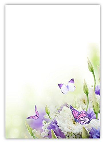 Mohnblumen Wiese Frühling Blumen-5078 DIN A4 100 Blatt Motivpapier Briefpapier