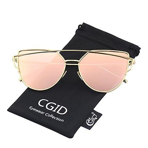 CGID MJ74 Lunettes de soleil polarisées cateye modernes et fashion réfléchissantes UV400 pour (Occhiali da sole)
