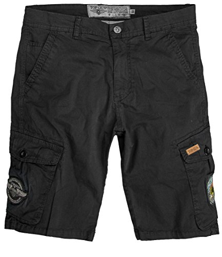 Top Gun Herren Shorts Patches Stinger Black,3XL (Patches Cruise Navy)