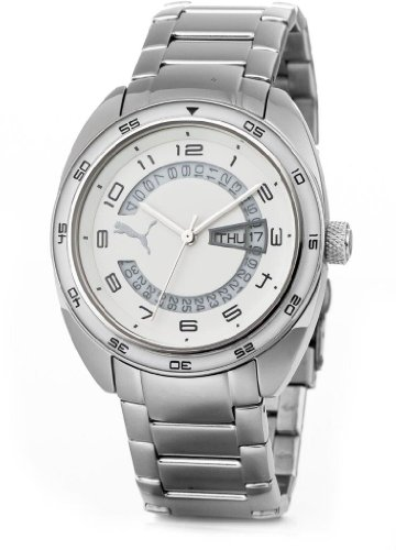 Puma Time Women's Quartz Watch Course Metal- S Silver PU102522002 with Metal Strap