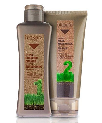 Salerm Biokera Coffret shampoing huile d'Argan 300 ml et masque huile d'Argan 200 ml